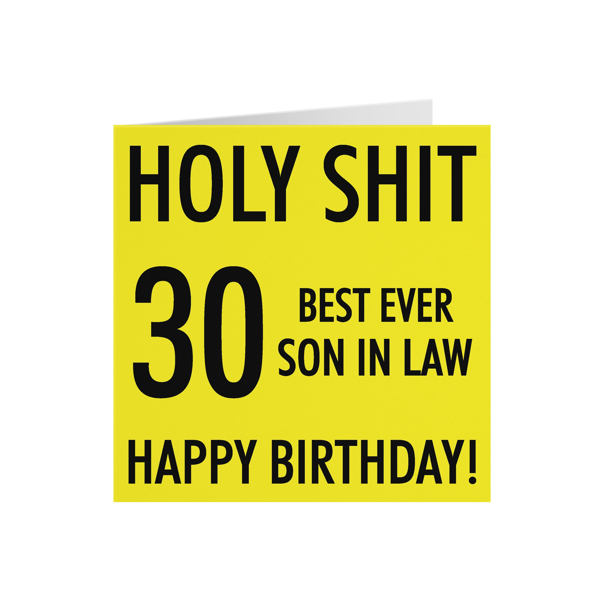 30 Son In Law 30th Birthday Card   Holy Shit   30 Best Ever Son In Law   Happy  Birthday   Holy Shit Collection
