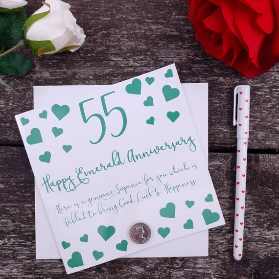 Lucky Sixpence Card /& Envelope 21st Birthday Card