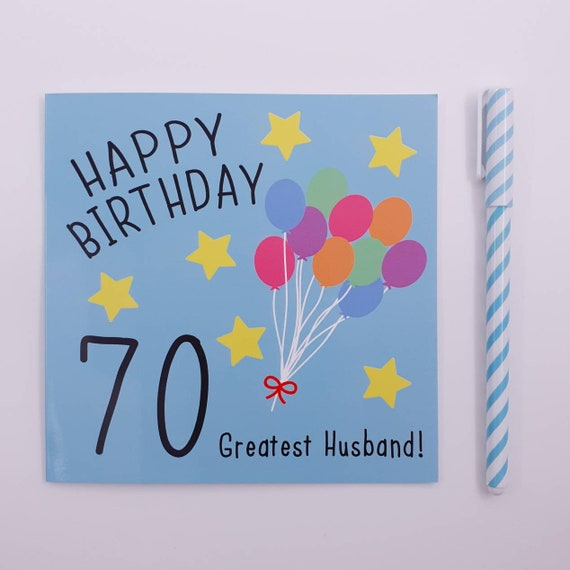 BALLOONS PERSONALISED GLOSSY 70TH  BIRTHDAY STICKERS ANY AGE 100 COLOURS