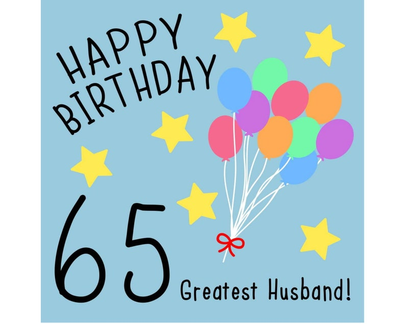 Husband 65th Birthday Card Greatest