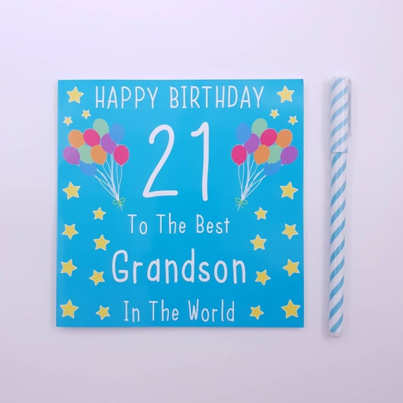 GRANDSON ON 21st Birthday ~ Birthday Card