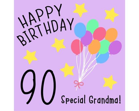 Grandma 90th Birthday Card Special