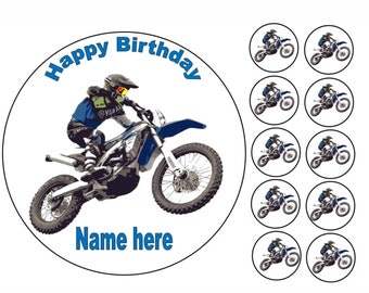 Cookware, Dining & Bar Motocross Quad Bike ATV All Terrain Vehicle Cake/Cupcake Toppers On Rice Paper Home, Furniture & DIY