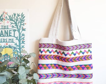 Tote shoulder bag in tropical fabric Beach bag in Tommy Bahama fabric Market bag One of a kind shoulder bag Accessories Australian made bag