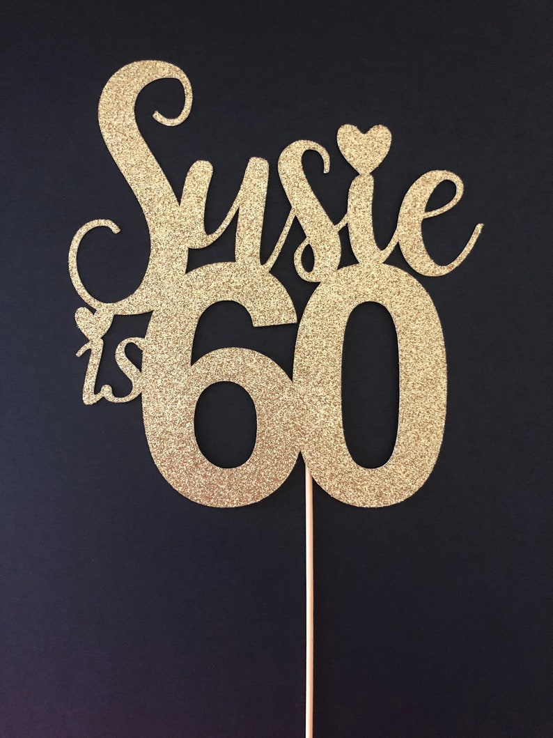60th Birthday Cake Topper Happy