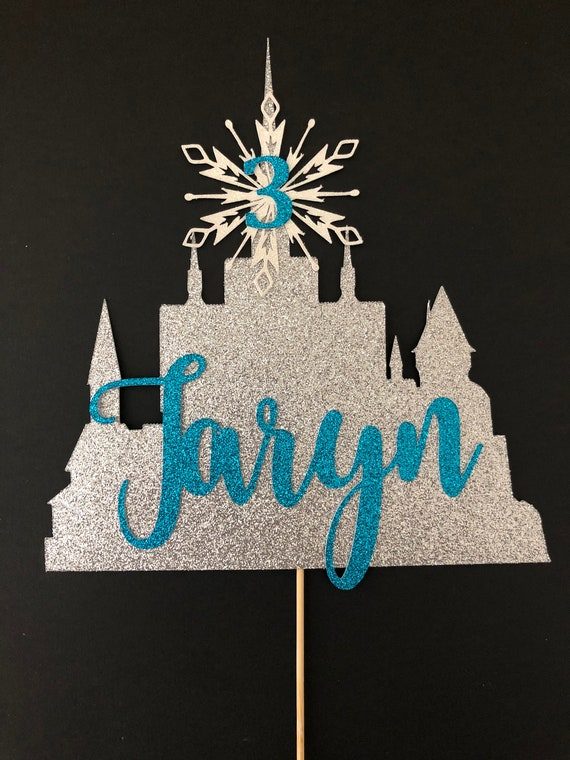 Strange Frozen Castle Birthday Cake Topper Frozen Birthday Cake Etsy Funny Birthday Cards Online Elaedamsfinfo