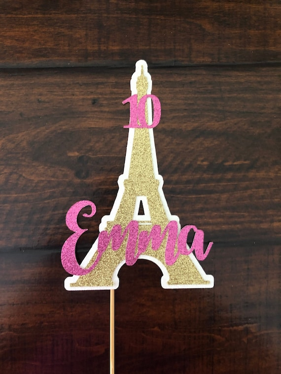Cool Eiffel Tower Cake Topper Paris Cake Topper Birthday Cake Etsy Funny Birthday Cards Online Aeocydamsfinfo