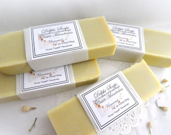 Olive oil Macadamia soap-luxurious soap-unscented large soap-Castille scent free bar soap-shea butter soap-Natural olive oil soap-gift soap