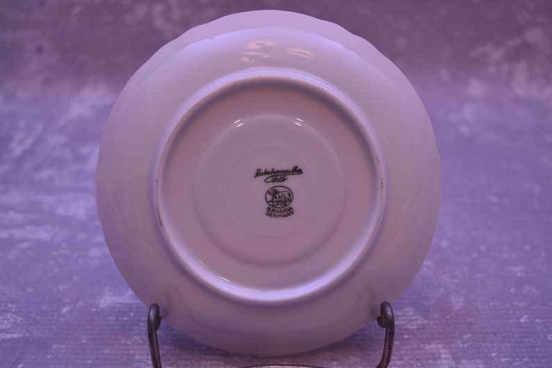 Racine Pattern Hutschenreuther\u00a0Selb Teacup and Saucer All White