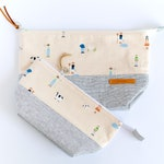 Farm Theme Zipper Pouch -  Whimsical Cosmetic Bag - Toiletry Bag for Women - Gift for Her