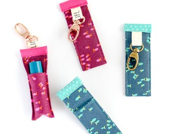 School Chap Stick holder clip to key chain or purse you choose color.GREAT gift