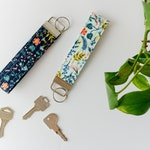 Rifle Paper Co Key Chain - Quilted Key Fob - Hands Free Key Wristlet