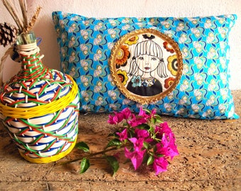 "Embroidered cushion ""Ana"""