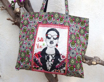 "Tote bag African fabric ""Good life"""