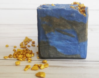 Classic Man - Men's Soap - Masculine Palm Free Bar Soap - Gold, Blue, Black present - Father's Day - Gift for Him - Artisan soap bar