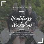 Make your own festival feather headdress workshop DIY crown