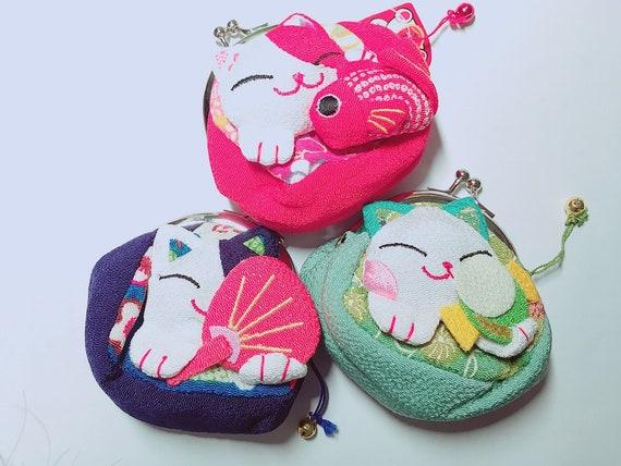 Chat porte-bonheur japonais Fortune Cat sacs pièces sacs changements sacs sachets