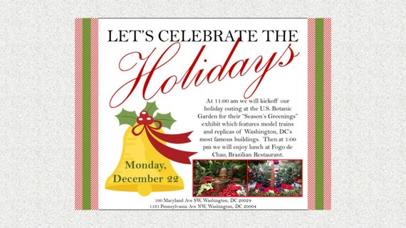 Bell Holiday Party Luncheon Invitation