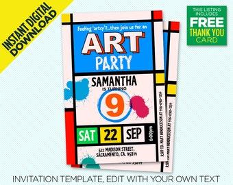 pop art invitation etsy