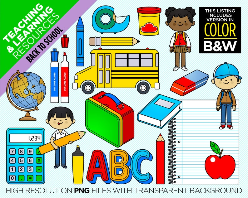 183 images Clipart Back To School Instant Digital Download