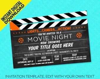 Oscar party invite Etsy