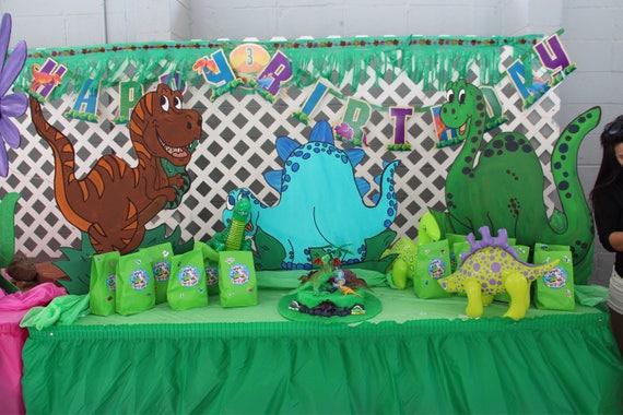 Anniversaire Dinosaure Decorations Voyageur Debout Un Etsy