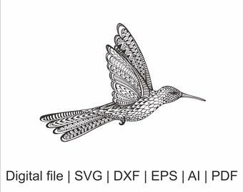 hummingbird mandala etsy