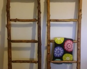 Blanket ladders rustic cedar