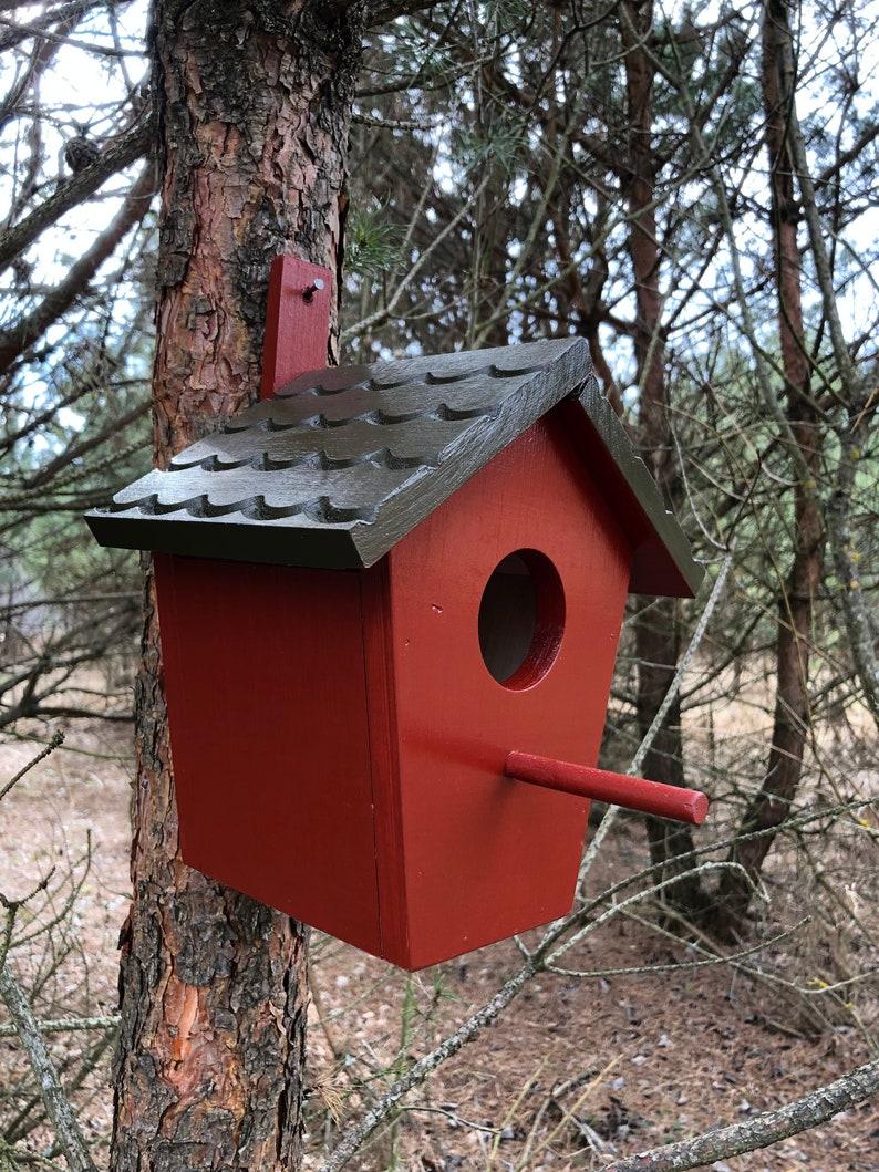 Surprising Barn Birdhouse Birdhouse Feeder Bird Feeder Home And Garden Housewarming T Hanging Bird Feeder Wooden Bird Feeder Download Free Architecture Designs Scobabritishbridgeorg