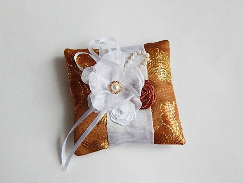 Wedding set Satin wedding pillow Satin ring pillow fabric wedding pillow satin wedding set flower ring pillow ring bearer pillow
