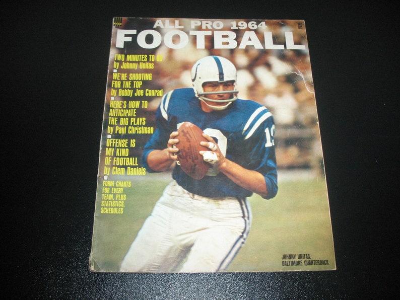5b3f39ece Vintage Magazine Johnny Unitas Baltimore Colts All Pro