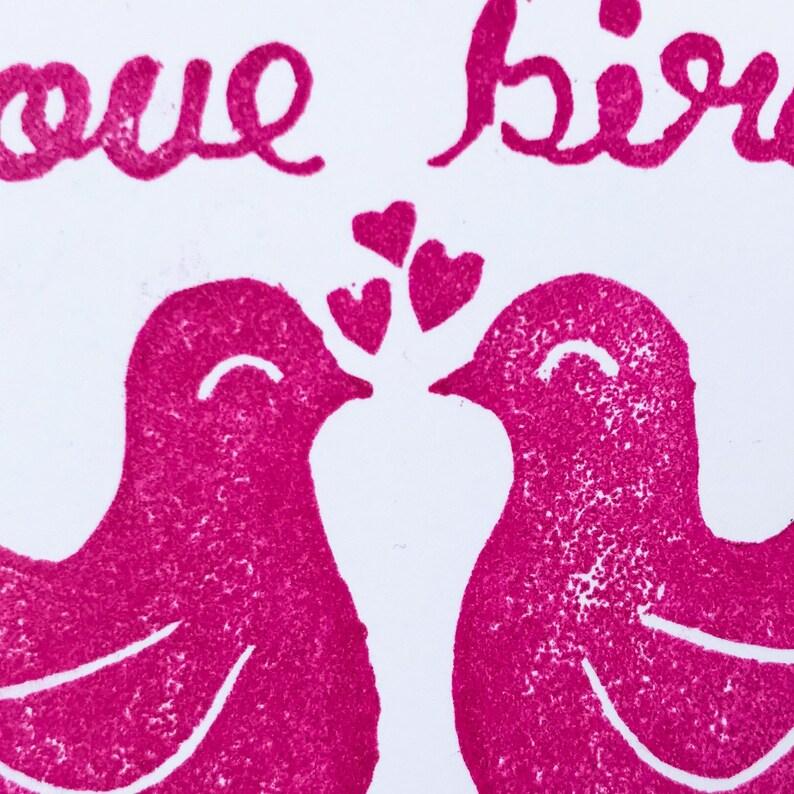 Lovebirds Handmade Greeting Card