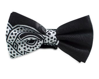Bow tie Seer Sucker Black and white