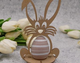 Gold Egg Holder Bunny Cosy Easter Decoration Egg Holder Easter Egg Stand Decor Funny Bunny Table Decor Gift Idea Kids Love Wooden Bunny