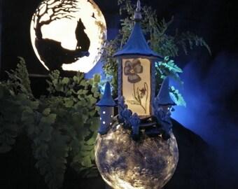 Nachtlicht Märchen Schloss Dekoration Kinder Zimmer  Schlaflicht Einzelstück Lampe Prinzessin