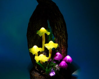 Mushroom lamp as decoration element - A small piece of art for magic moments