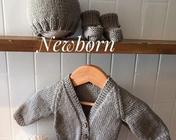 """Newborn baby set 100% WOOL """"Classic"""", Hand Knitted, Unisex Baby Clothes, Newborn Hospital Outfit, Coming home outfit, Baby shower"""