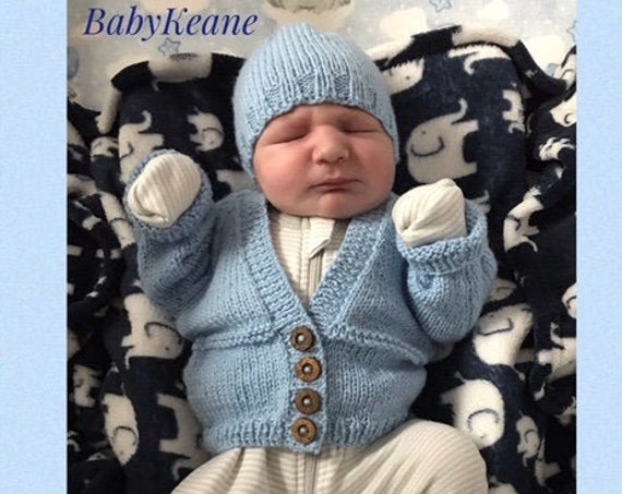 """Newborn baby set 100% WOOL """"BabyKeanie Basics"""", Hand Knitted, Unisex Baby Clothes, Newborn Hospital Outfit, Coming home outfit, Baby shower"""