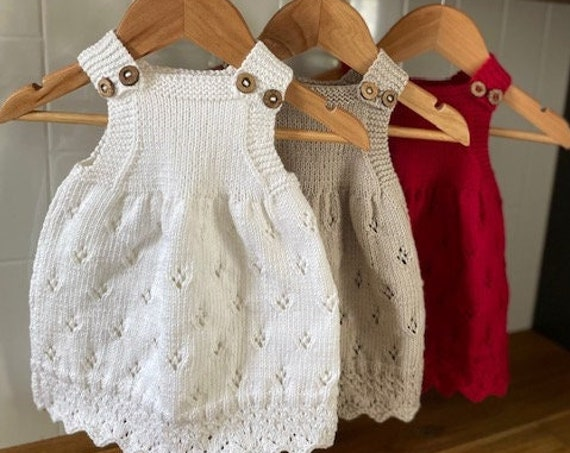 12-24 Months Cotton Dress, hand knitted, Toddler spring dress, Toddler summer dress, First Birthday, First Christmas