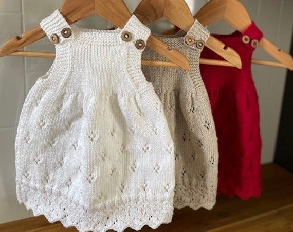 9-12 Months Cotton Dress, hand knitted, baby spring dress, baby summer dress, baby,shower