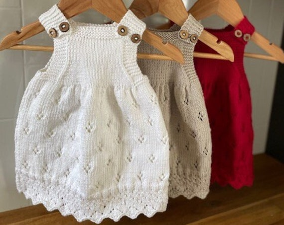 3-9 Months Cotton Dress, hand knitted, baby spring dress, baby summer dress, baby,shower