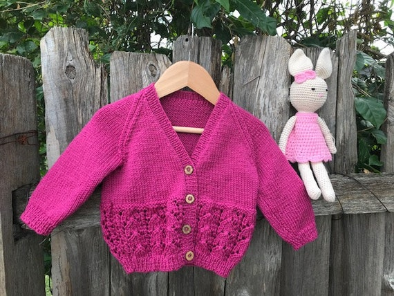 Baby Gift SET 6-18 months Cardigan & Bunny