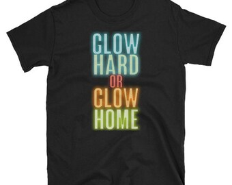 Glow Party T Shirt Birthday Hard Neon Blacklight Girl