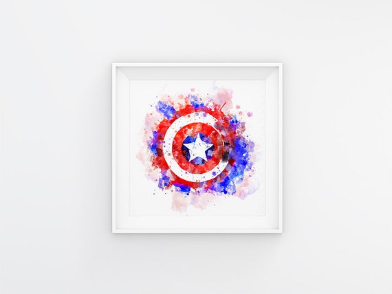 graphic about Captain America Shield Printable identify Defend Captain The usa watercolor poster Captain The usa guard printable Wonder artwork impressed Comics print Tremendous Hero Avengers print boys