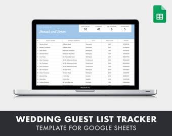 wedding guest list etsy