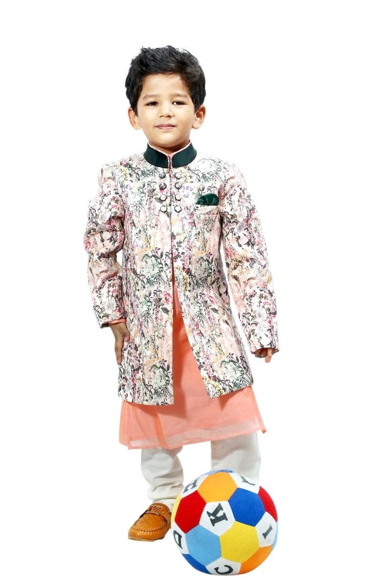 35ee47476b Kids Kurta Pajama Set Boys Ethnic Indo Western Dress Indian   Etsy