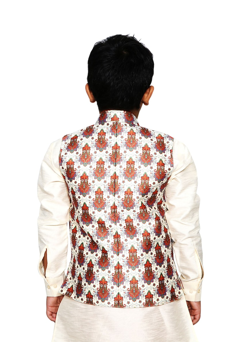 Classic Premium Boys Kurta Pyjama with Jacket in Silk Nehru  26befbd9d