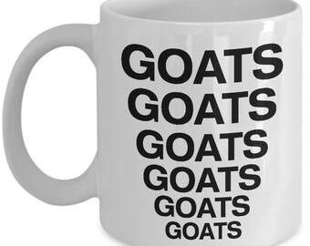 Goats coffee mug cup