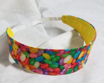Easter - Jelly Bean / Yellow Reversible Cloth Headband