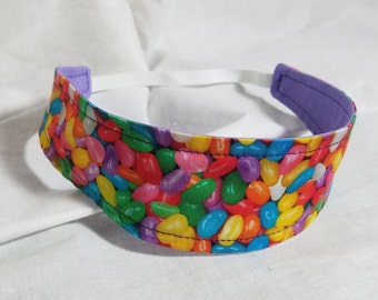 Easter - Jelly Bean - Purple Reversible Cloth Headband